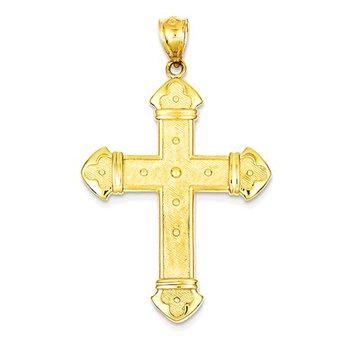 14k Budded Cross Pendant