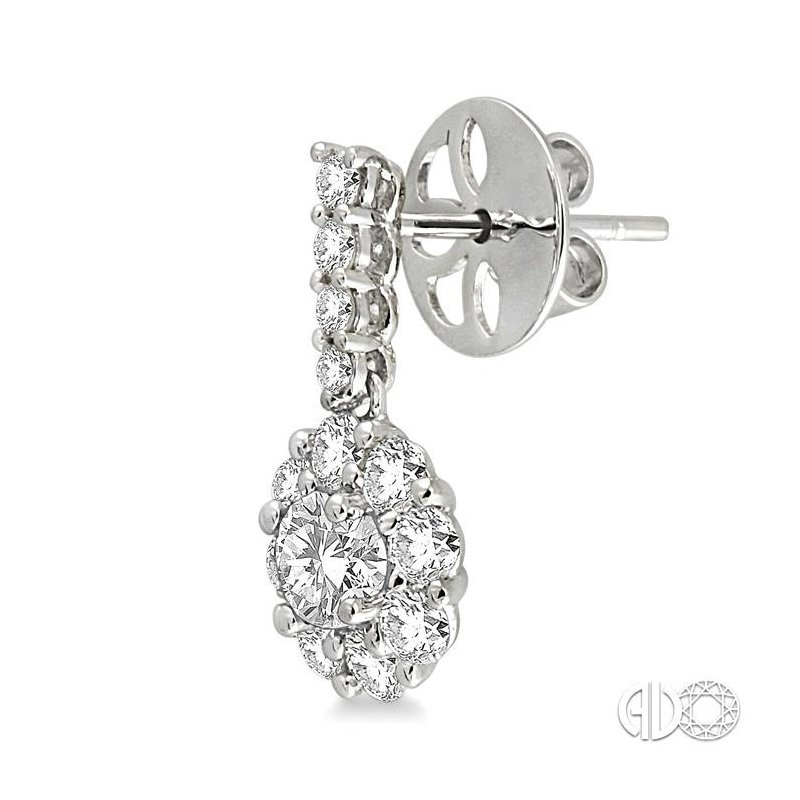 Lovebright Collection Jewelry FLOWER SHAPE DIAMOND EARRINGS