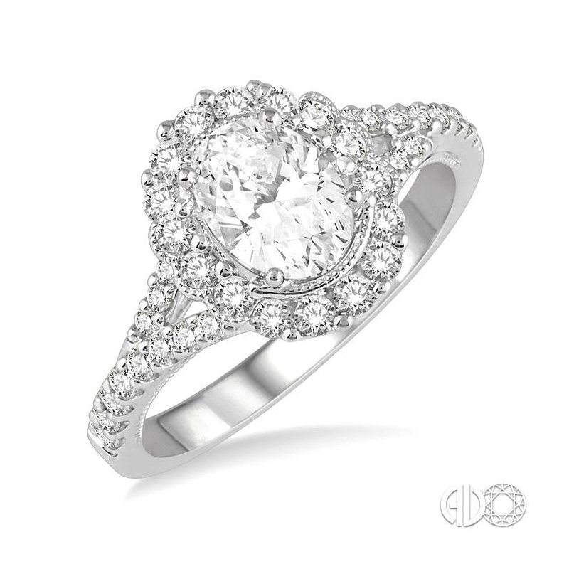 Lovebright Collection Jewelry OVAL SHAPE SEMI-MOUNT DIAMOND RING