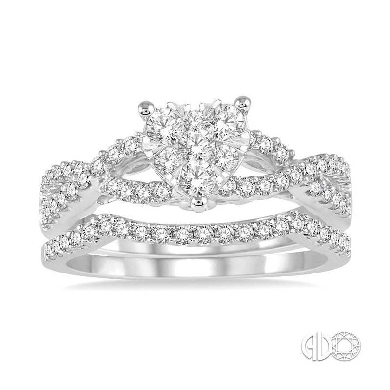 Lovebright Collection Jewelry HEART LOVEBRIGHT DIAMOND WEDDING SET