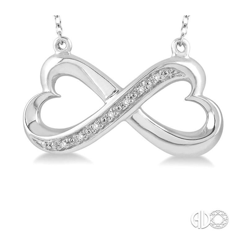 Lovebright Collection Jewelry SILVER INFINITY HEART DIAMOND PENDANT
