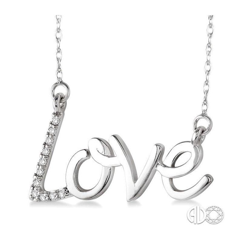 Lovebright Collection Jewelry LOVE DIAMOND PENDANT