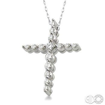 JOURNEY CROSS DIAMOND PENDANT