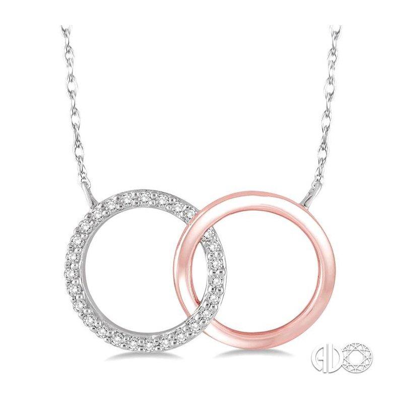 Lovebright Collection Jewelry CIRCLE DIAMOND PENDANT