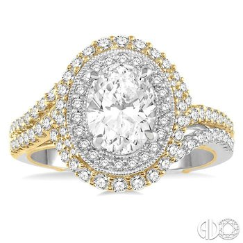 OVAL SHAPE SEMI-MOUNT DIAMOND RING