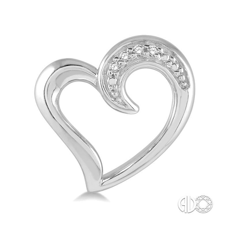 Lovebright Collection Jewelry SILVER HEART DIAMOND EARRINGS