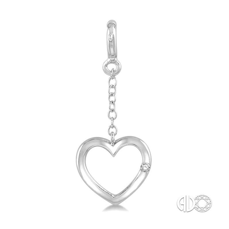 Lovebright Collection Jewelry DIAMOND HEART CHARM