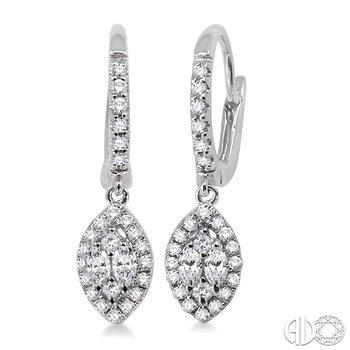 MARQUISE SHAPE DIAMOND EARRINGS
