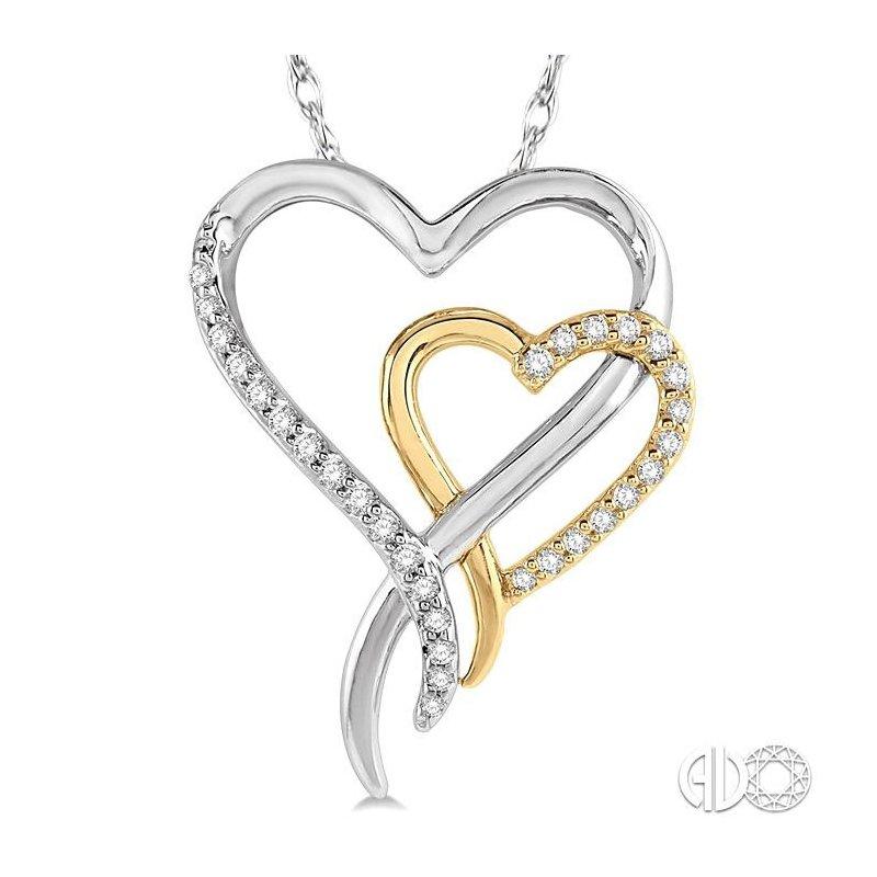 Lovebright Collection Jewelry TWIN HEART DIAMOND PENDANT