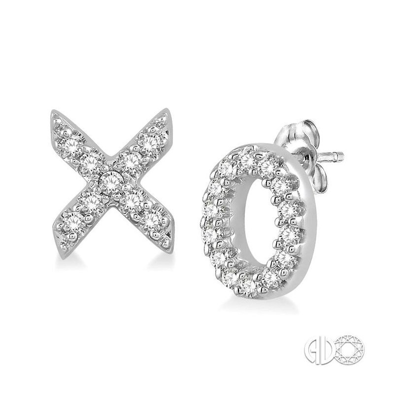 Lovebright Collection Jewelry 'X' & 'O' Shape Diamond Earrings