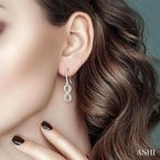 Lovebright Collection Jewelry INFINITY DIAMOND EARRINGS