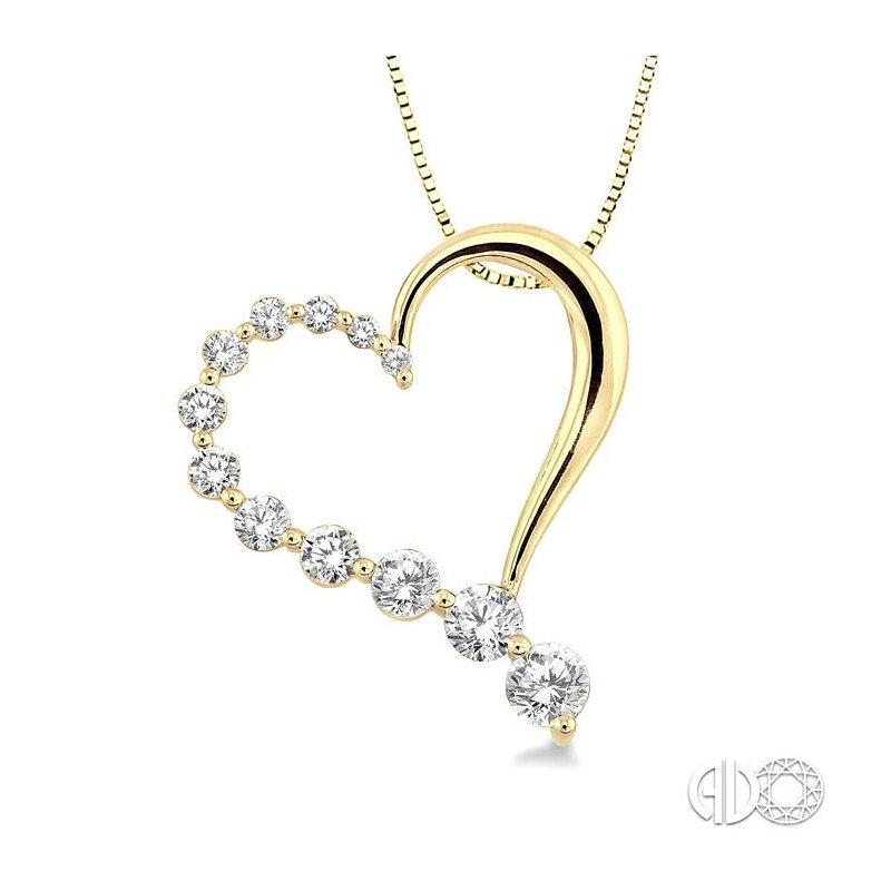 Lovebright Collection Jewelry HALF JOURNEY DIAMOND HEART PENDANT