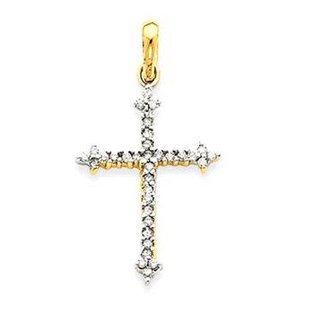 14k Diamond Cross Pendant