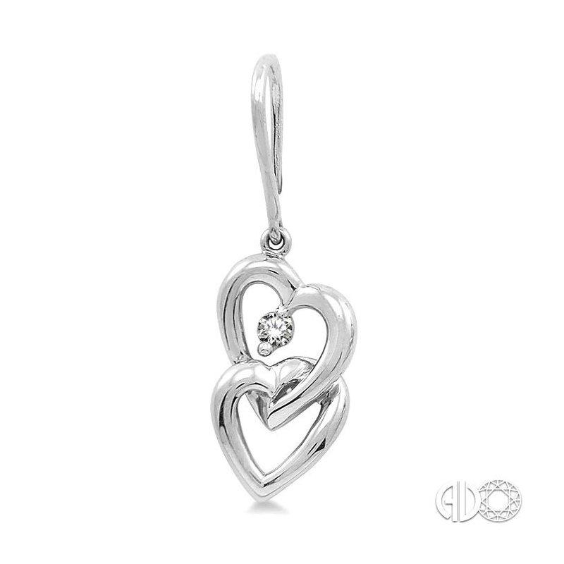 Lovebright Collection Jewelry TWIN HEART DIAMOND EARRINGS