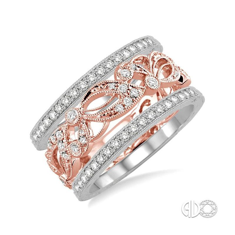 Lovebright Collection Jewelry STACKABLE DIAMOND RING SET