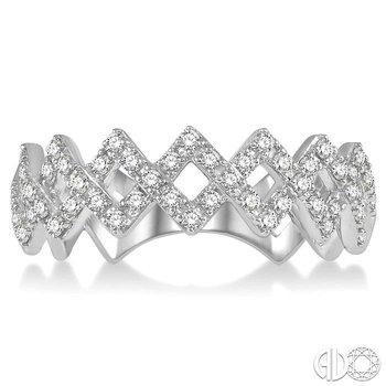 DIAMOND ZIGZAG RING