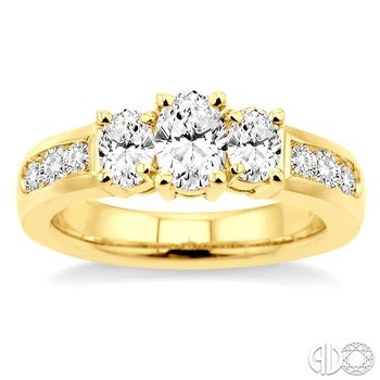 PAST PRESENT & FUTURE OVAL SHAPE DIAMOND ENGAGEMENT RING