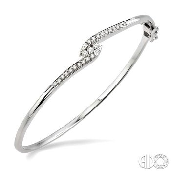 CHANNEL SET DIAMOND BANGLE