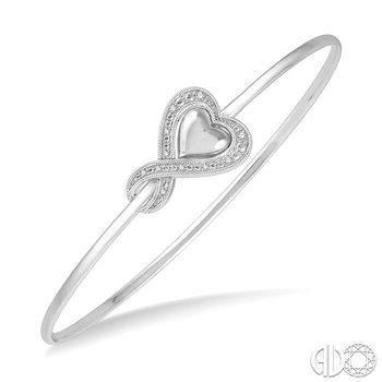 DIAMOND HEART FLEXI BANGLE