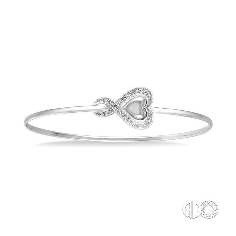 Lovebright Collection Jewelry DIAMOND HEART FLEXI BANGLE