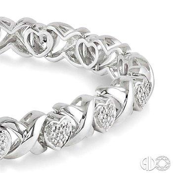 SILVER HEART DIAMOND BRACELET