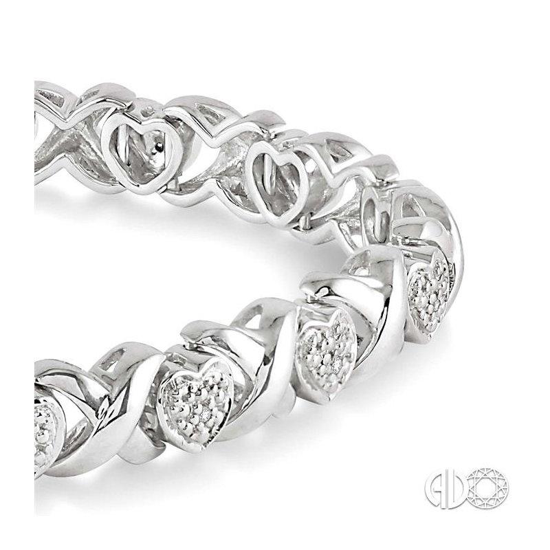 Lovebright Collection Jewelry SILVER HEART DIAMOND BRACELET