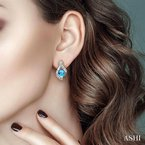 Lovebright Collection Jewelry HEART GEMSTONE & DIAMOND EARRINGS