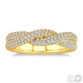 THREE ROW TWIST DIAMOND WEDDING BAND