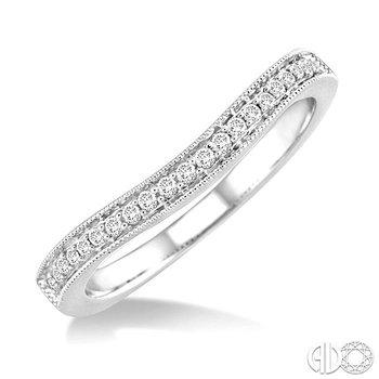 DIAMOND CURVED WEDDING BAND