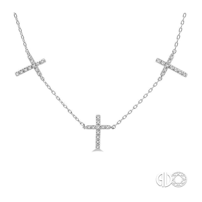 Lovebright Collection Jewelry DIAMOND CROSS STATION NECKLACE