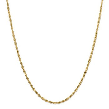 """14ky 3.0mm Semi-Solid Rope Chain - 20"""""""