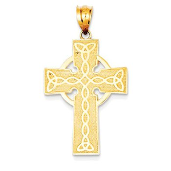 14k Irish Cross Pendant
