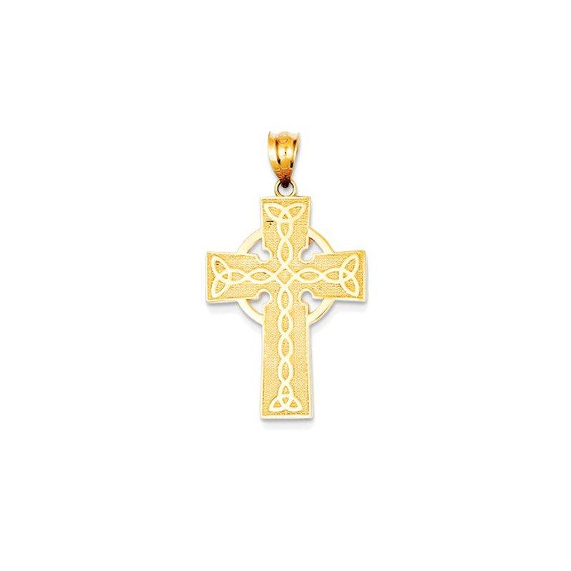 Lovebright Collection Jewelry 14k Irish Cross Pendant