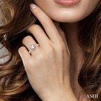 Lovebright Collection Jewelry FLOWER SHAPE SEMI-MOUNT DIAMOND RING