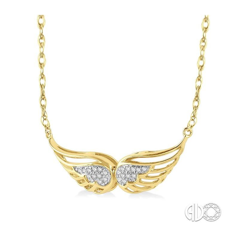 Lovebright Collection Jewelry DIAMOND ANGEL WING NECKLACE