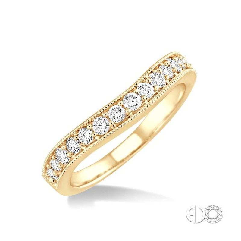 Lovebright Collection Jewelry DIAMOND CURVED WEDDING BAND