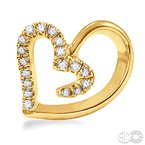 Lovebright Collection Jewelry HEART DIAMOND EARRINGS