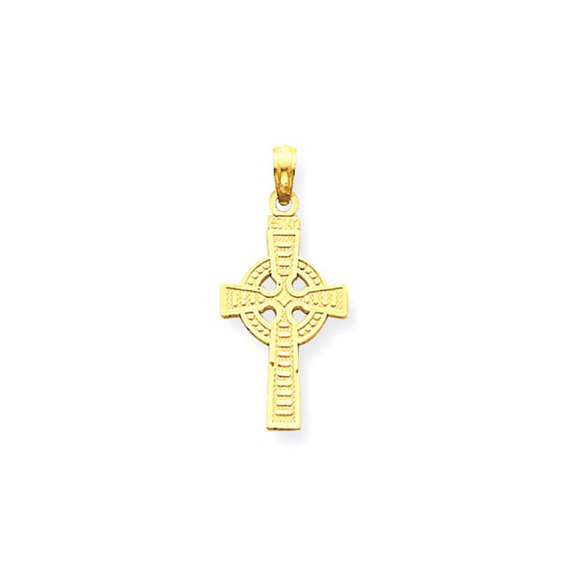 Lovebright Collection Jewelry 14k Reversible God is Love Celtic Cross Pendant