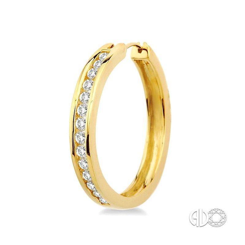 Lovebright Collection Jewelry CHANNEL SET DIAMOND HOOP EARRINGS