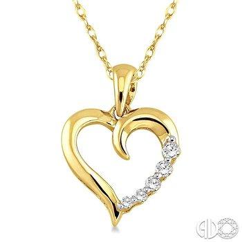 JOURNEY HEART DIAMOND PENDANT