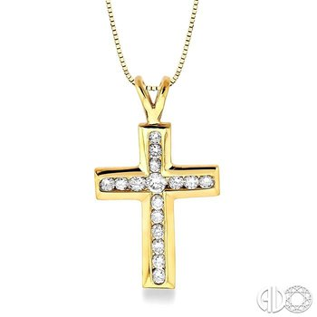 CHANNEL SET DIAMOND CROSS PENDANT