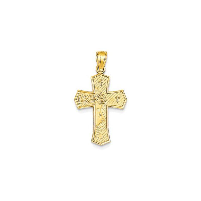 Lovebright Collection Jewelry 14k Reversible Ecce Homo Cross Pendant