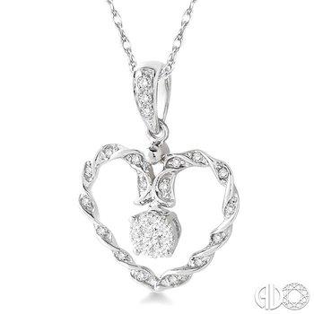 HEART LOVEBRIGHT DIAMOND PENDANT