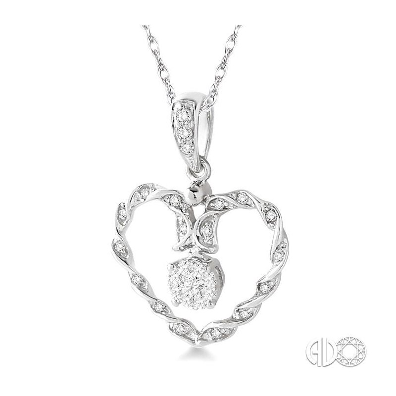 Lovebright Collection Jewelry HEART LOVEBRIGHT DIAMOND PENDANT