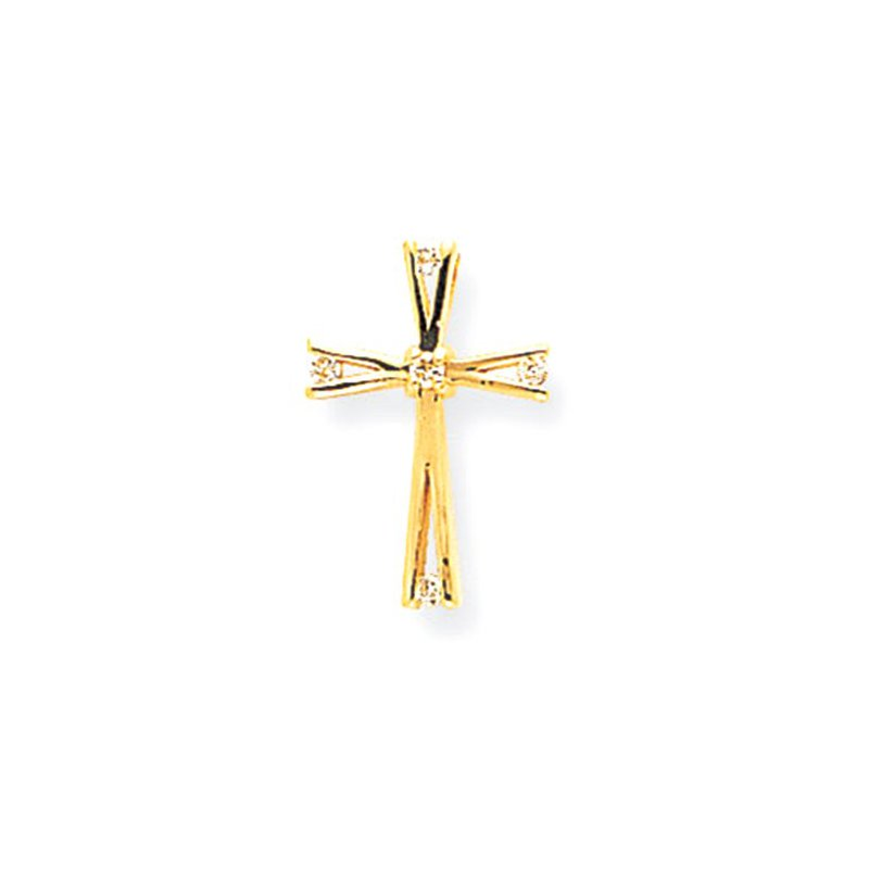 Lovebright Collection Jewelry 14k AA Diamond Cross Pendant
