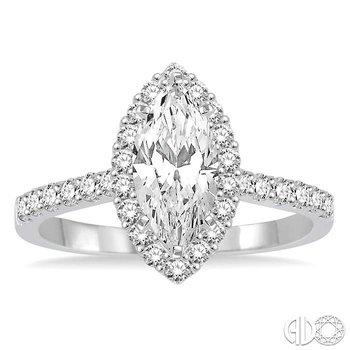 MARQUISE SEMI-MOUNT DIAMOND RING
