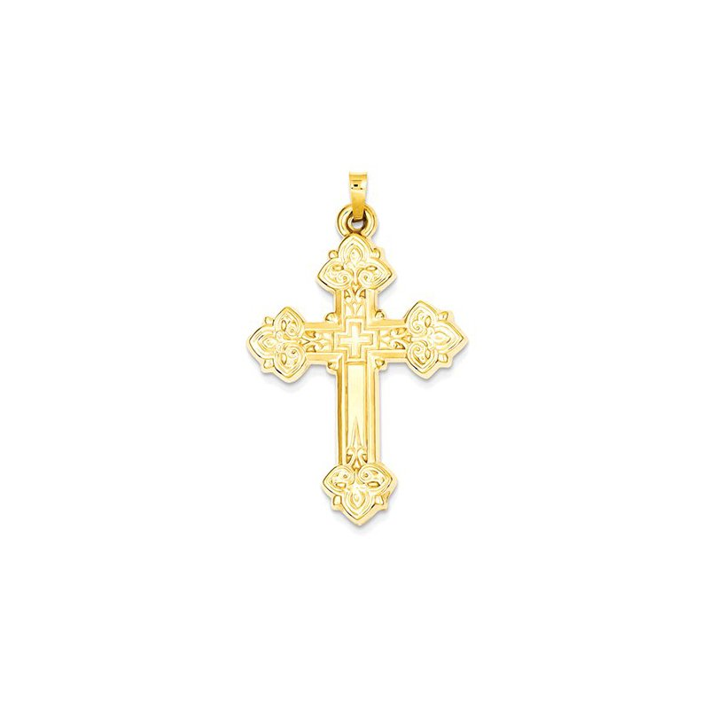 Lovebright Collection Jewelry 14k Hollow Cross Pendant