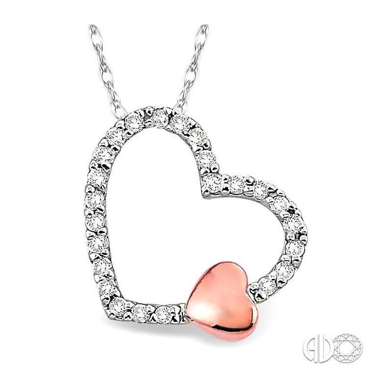 Lovebright Collection Jewelry HEART DIAMOND PENDANT