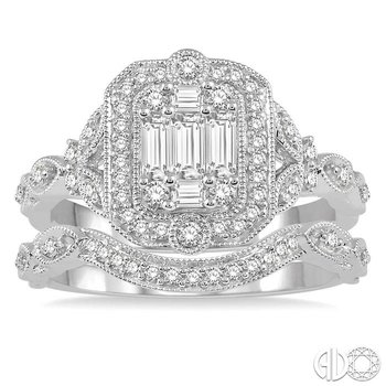 BAGUETTE DIAMOND WEDDING SET