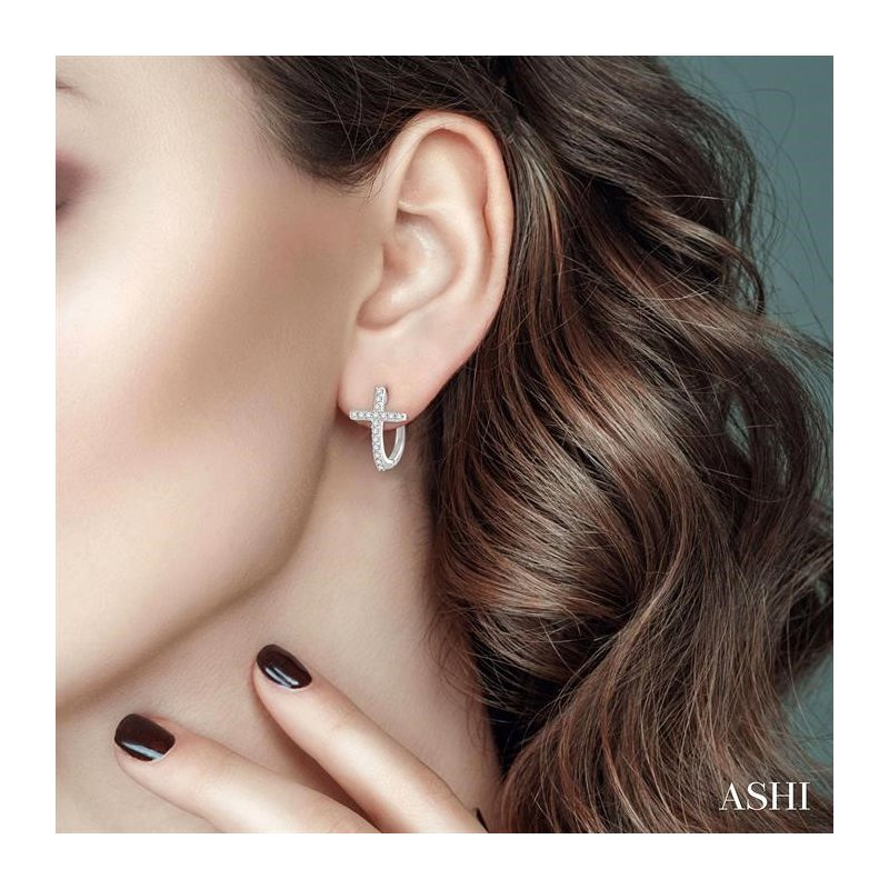 Lovebright Collection Jewelry DIAMOND CROSS EARRINGS
